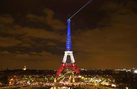פריז טרור נובמבר 2015 מגדל אייפל, צילום: איי אף פי