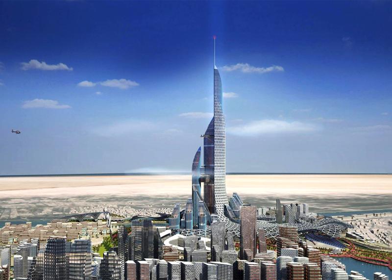 הדמיית מגדל כלת המפרץ בבצרה, עיראק, צילום: ambs architects