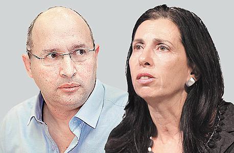 מימין דורית סלינגר ו אבי ניסנקורן, צילום: אוראל כהן, עמית שעל