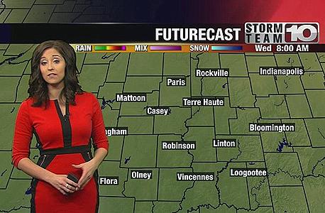 שמלה אמזון מטאורולוגית מגישה טלוויזיה מזג אוויר, צילום: facebook