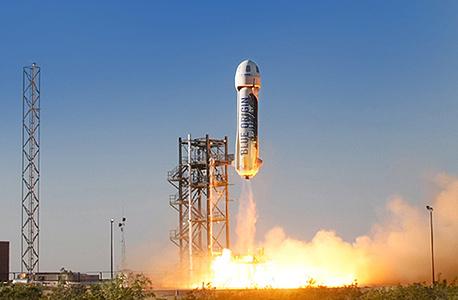 טיל חללית ניו שפרד בלו אוריג'ין אמזון , צילום: biue origin