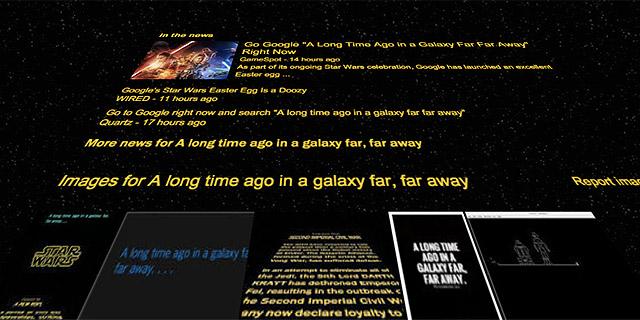 תבחרו צד. מלחמת הכוכבים בגוגל, צילום: צילום מסך גוגל