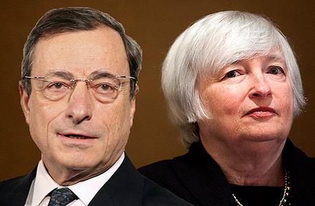 """יו""""ר הפד ג'נט ילן ונשיא הבנק האירופי מריו דראגי"""