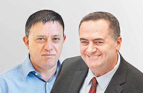 מימין ישראל כץ ו אבי גבאי, צילום: אוראל כהן