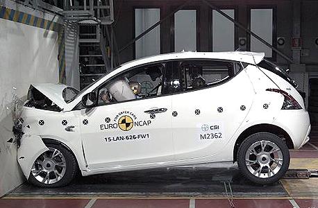 לנצ'יה אפסילון מבחני ריסוק  Euro Ncap, צילום: Euro NCAP