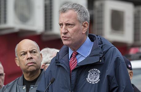 ראש עיריית ניו יורק ביל דה בלאזיו. תקציב חירום של 40 מיליון דולר