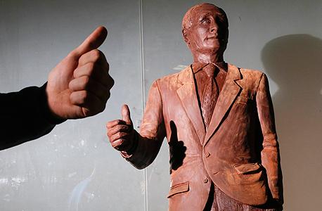 ולדימיר פוטין נשיא רוסיה בובת שוקולד סנט פטרסבורג, צילום: איי פי