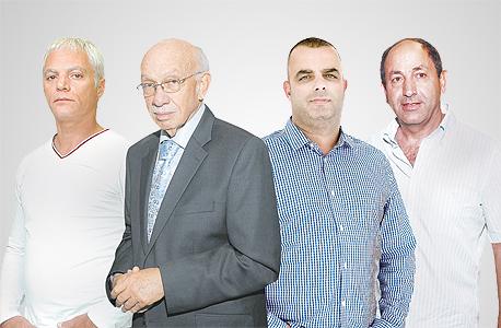 מימין רמי לוי ו אייל רביד ו  אביגדור קפלן ו איתן יוחננוף, צילום: אוראל כהן, עמית שעל, צפריר אביוב