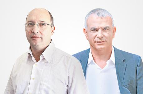 מימין משה כחלון ו אבי ניסנקורן, צילום: עמית שעל, אוראל כהן