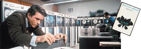 """קליף רוברטסון כצ'רלי גורדון בסרט """"צ'רלי"""", ועטיפת """"פרחים לאלג'רנון"""". מאז עץ הדעת, השאיפה לחוכמה שלא בדרך הטבע סופה רע ומר"""