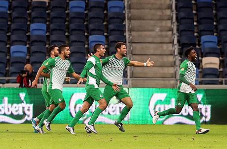 Maccabi Haifa players. Photo: Gil Nehushtan