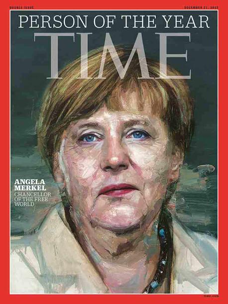 אנגלה מרקל על שער הטיים, באדיבות: time magazine