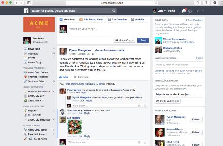 Facebook for Work, מצא את ההבדלים, צילום: facebook