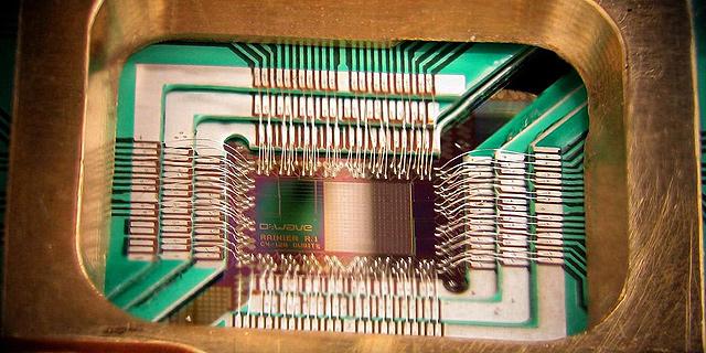 מחשב קוונטי מסוג D-Wave , צילום: ויקימדיה