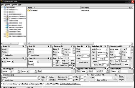 Bulk Rename Utility. לא בדיחה, צילום מסך: Bulk Rename Utiity