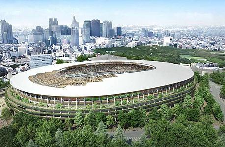 הדמיית האצטדיון האולימפי בטוקיו 2020. באישור הממשלה
