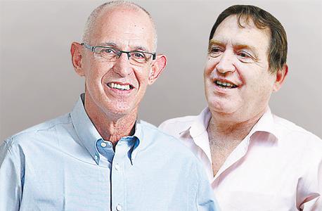 """מימין רוני קוברובסקי נשיא קוקה קולה ומנכ""""ל תנובה אריק שור, צילום: אוראל כהן, עמית שעל"""