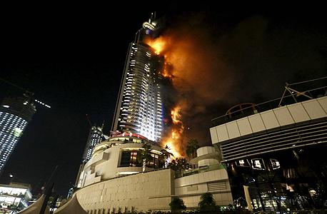 השריפה במלון אדרס בדובאי, צילום: רויטרס