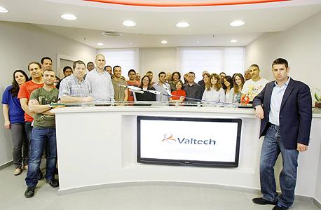 עובדי חברת וולטק  (מימין - עמיר גרוס, אחד המייסדים)