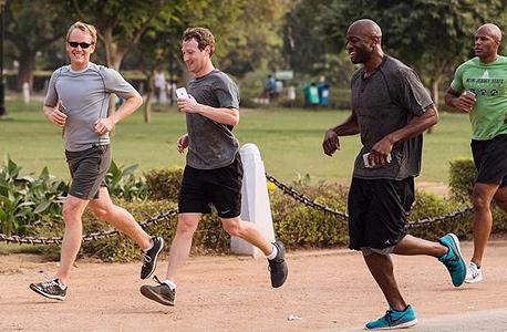 מרק צוקרברג פייסבוק אימון ריצה, צילום: פייסבוק