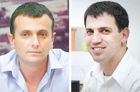 """מימין: מנכ""""ל משרד האוצר שאול מרידור ומנכ""""ל משרד האנרגיה שי באב""""ד"""