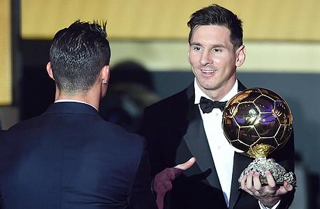 ליאו מסי כריסטיאנו רונלדו כדור הזהב, צילום: אי פי איי