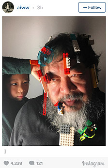 תגובת האמן איי וייוויי להודעת לגו על שינוי המדיניות, צילום: אינסטגרם