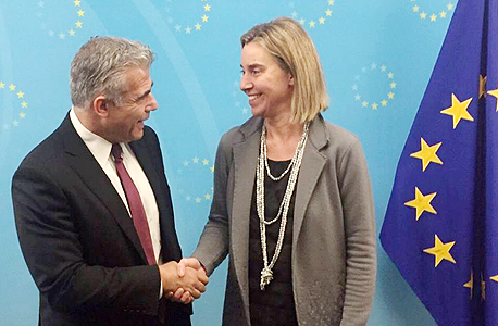 שרת החוץ של האיחוד האירופי פדריקה מוגריני יאיר לפיד