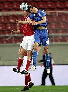 אנחלוס חאריסטאס מנבחרת יוון. לוחם ספרטני