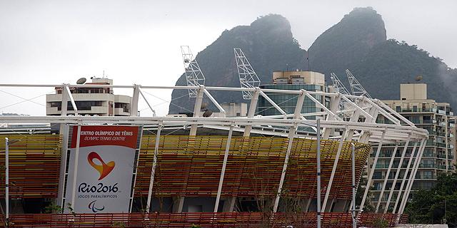 מרכז הטניס בריו. אמור להיות בנוי עד הקיץ, צילום: איי פי