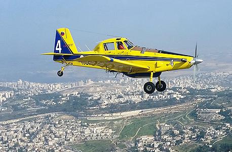 מטוס כיבוי שמופעל על ידי אלביט מערכות