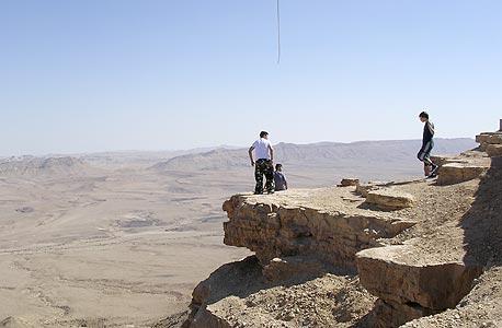 מצוק ליד מצפה רמון (ארכיון)