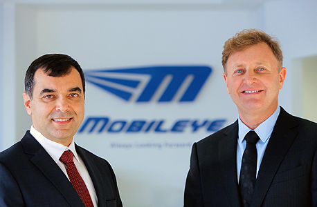 Mobileye cofounders Amnon Shashua (left) and Ziv Aviram (right)