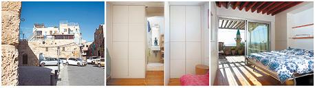 מיטה שמתקפלת אל תוך קיר חדר השינה, צילום: תומי הרפז