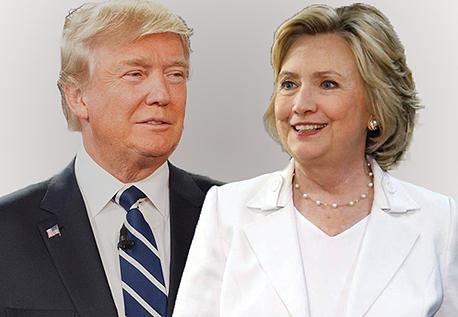 מימין הילרי קלינטון ו דונלד טראמפ, צילום: איי אף פי , בלומברג