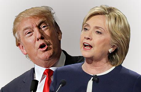 מימין הילרי קלינטון ו דונלד טראמפ חדש, צילום: בלומברג