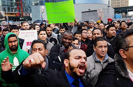 שביתה של נהגי אובר ב ניו יורק 2, צילום: איי אף פי