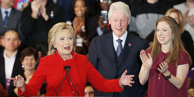 """קלינטון הבטיחה את מועמדותה לנשיאות ארה""""ב מטעם המפלגה הדמוקרטית"""