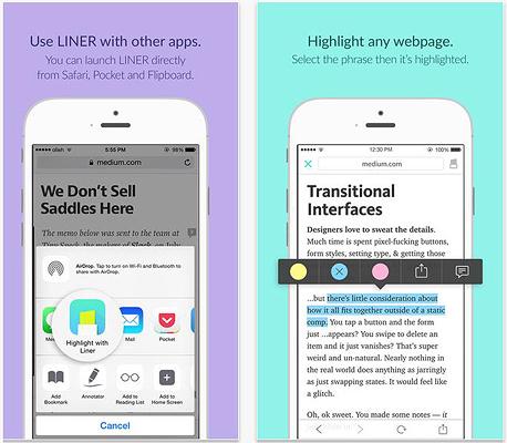 אפליקציה Liner