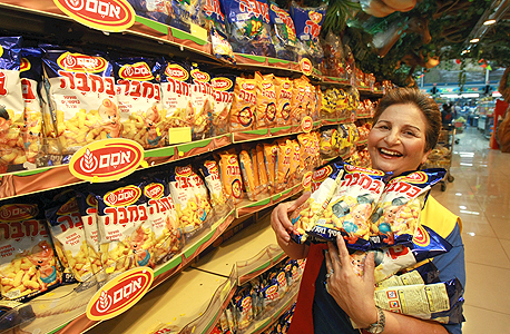 Bamba, one of Israel's most popular snacks. Photo: Shaul Golan