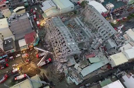 רעידת אדמה ב טייוואן 1, צילום: איי אף פי