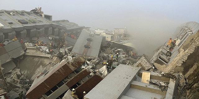 הריסות בטייוואן, בעקבות רעידת אדמה, צילום: רויטרס