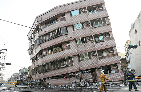 רעידת אדמה ב טייוואן 6, צילום: רויטרס