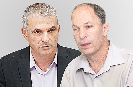 מימין אורי יוגב ו משה כחלון, צילום: אוראל כהן , אלכס קולומויסקי