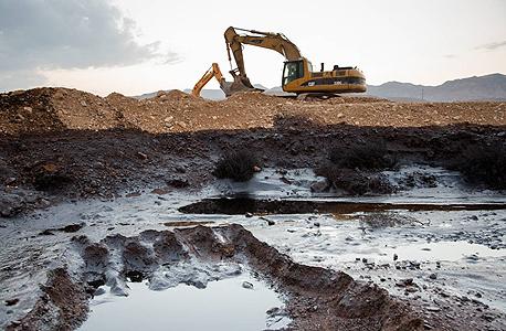 אסון דליפת הנפט בעברונה, צילום: טל שחר