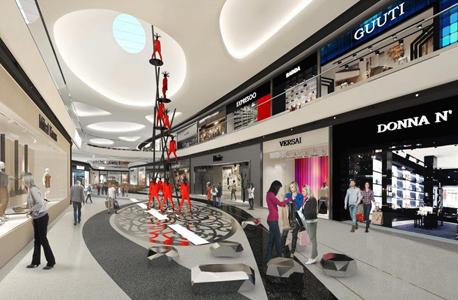 הדמיה קניון TLV Fashion Mall מגדלי גינדי פרויקט love tel aviv, צילום: גינדי מגדלים