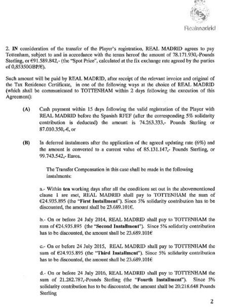 החוזה של ריאל מדריד וטוטנהאם בהקשר של גארת' בייל