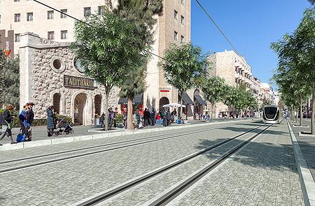 תוואי הרכבת הקלה ירושלים
