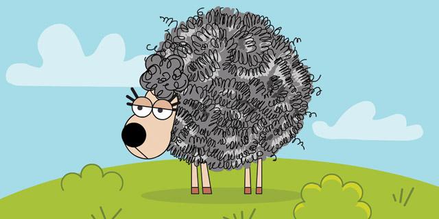 לכבשים יש צמר פלדה?, איור: ערן מנדל