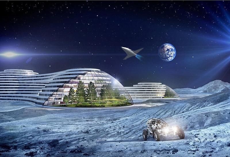 """בשנת 2116 תגיעו לירח - כך לפחות על פי מחברי הדו""""ח, הדמיה: Samsung Smart Things"""